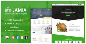 Jamia - Islamic Center Responsive HTML Template