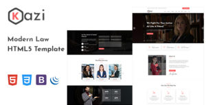 Kazi – Lawyers Attorneys and Law Firm HTML5 Template