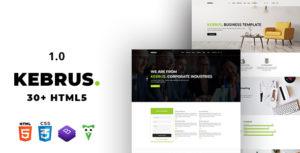 Kebrus | Minimal Multipurpose HTML5 Template