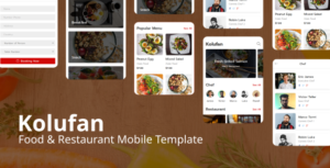 Kolufan - Food and Restaurant Mobile Template