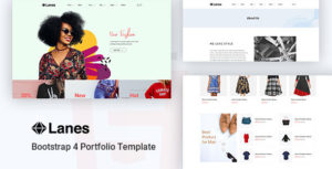 Lanes - Fashion Store HTML Template
