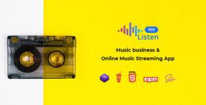 Listen - Online Music Streaming App