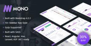 MONO - Admin Template + UI Kit
