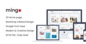 Mingo - Magazine & Blog Responsive HTML Site Template