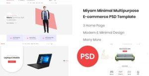 Miyam Minimal – E-commerce PSD Template