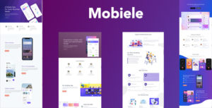 Mobiele - Mobile App Landing Page