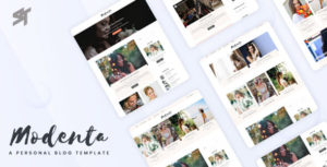 Modenta - A Responsive Personal Blog Template