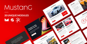 Mustang Email-Template + Online Builder