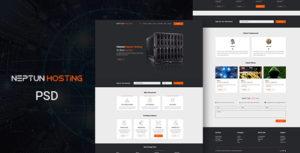 Neptun Hosting - One Page Hosting PSD Template