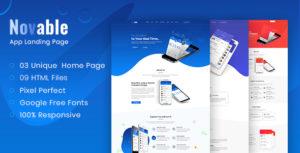 Novable - App Landing HTML5 Template