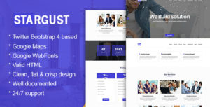 One Page HTML Bootstrap 4 Template