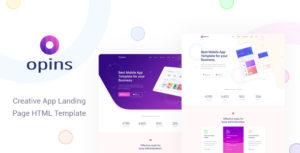 Opins - Creative App Landing Page HTML Template