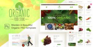 Organic Food Store - Organic Store PSD Template