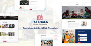 Patshala – Education HTML Template with Page Builder