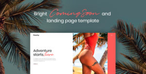 Peachy - Bright Coming Soon and Landing Page Template