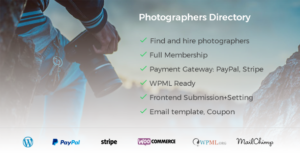 Photographer Directory - WordPress Plugin