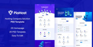 Piohost - Domain and Web Hosting PSD Template
