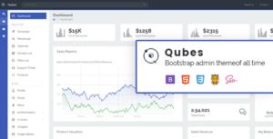 Qubes - Responsive Admin Dashboard Template