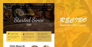 Recibo - Restaurant / Food HTML Template