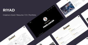 Resume / CV / Portfolio / vCard