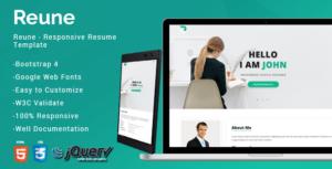 Reune CV / Resume
