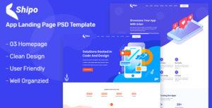 Shipo – App, Software & SAAS Landing Page PSD Template