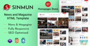 Sinmun - News and Magazine HTML Template