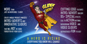 Slider Hero with Animation Effects, Video Background, Video Slider & Intro Maker