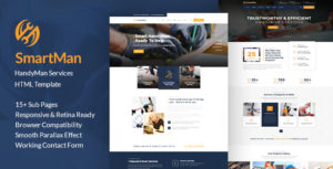 Smartman - Handyman Renovation Services HTML Template