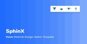 Sphinx - Vuejs Material Design Admin Template