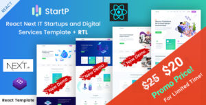 StartP - React Next IT Startups and Digital Services Template