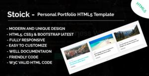 Stoick - Onepage MultiPurpose HTML5 Template