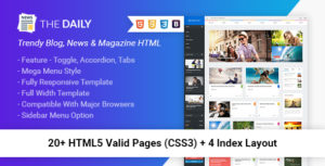 The Daily - News HTML Template