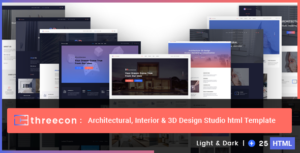 Threecon - Architectural, Interior & 3D Design Studio Html Template