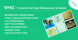 Whiz - Creative One Page Multipurpose HTML Template