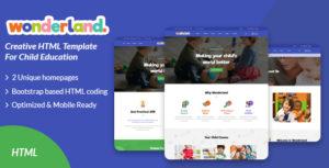 Wonderland - Kindergarten & Preschool HTML Template