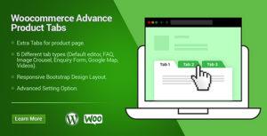 WooCommerce Custom Products Tabs Plugin
