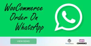 WooCommerce Order On Whatsapp