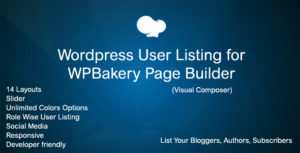 Wordpress Users Addon for WPBakery Page Builder (Visual Composer)