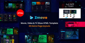 Zmovo - Online Movie Video And TV Show HTML Bootstrap 4 Template
