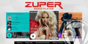 Zuper - Shoutcast and Icecast Radio Player With History - WordPress Plugin