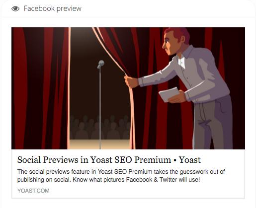 Aperçu Facebook de cet article sur les aperçus sociaux, montrant l'image en vedette et la méta-description utilisée