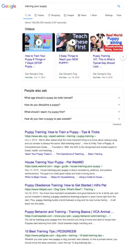 Résultats de recherche pour 'dresser votre chiot'