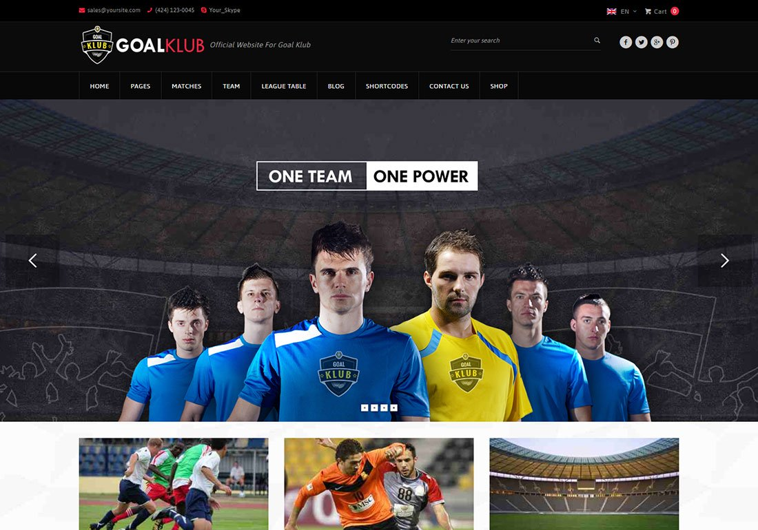 Thème WordPress Baseball Goal Club