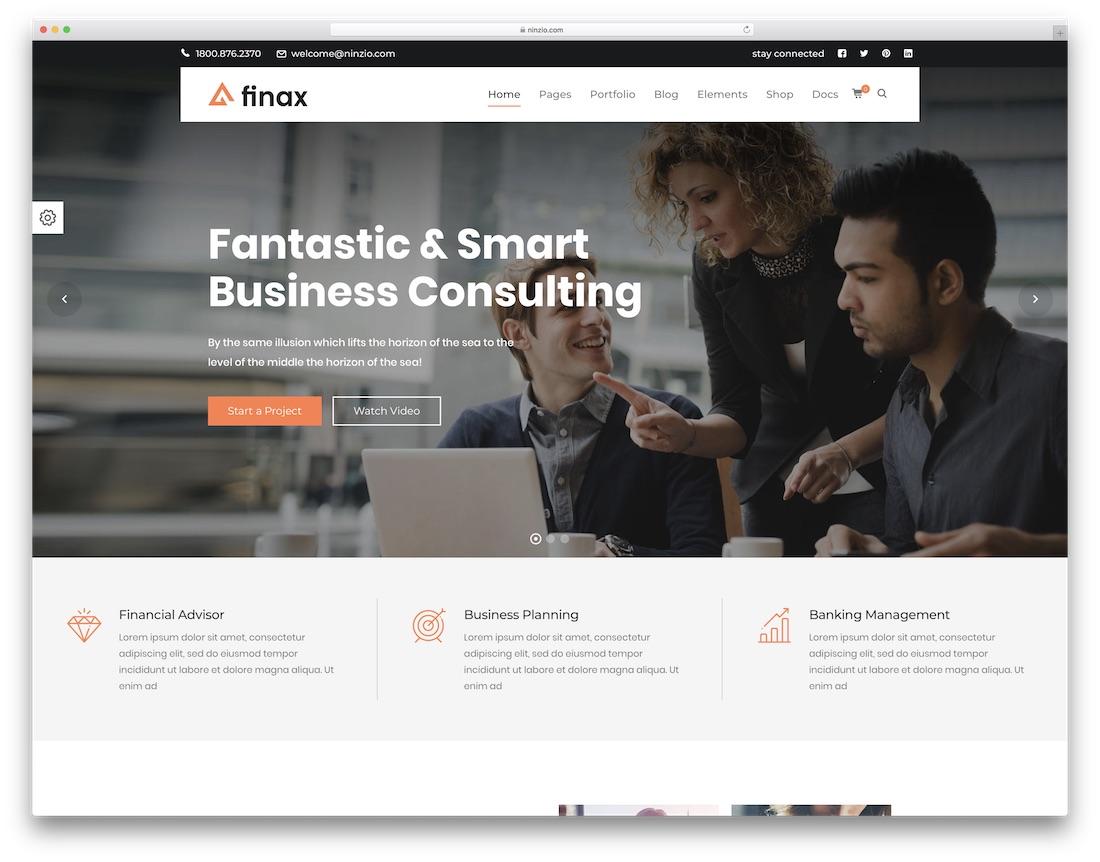 Thème WordPress de Finax Consulting