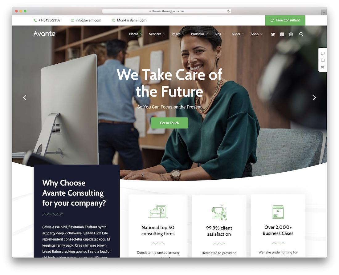 Thème WordPress Avante Consulting