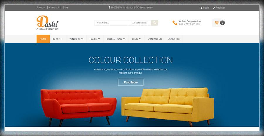 Dash - Thème du marché des meubles faits à la main