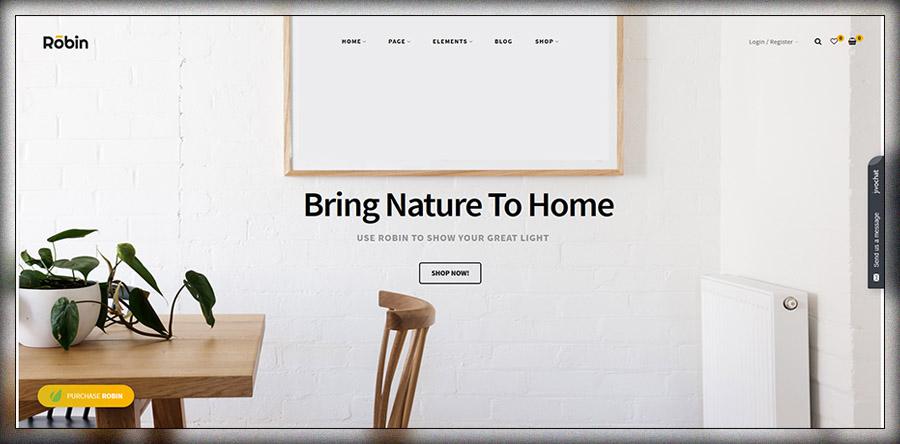 Robin - Un thème WordPress WooCommerce pour les meubles