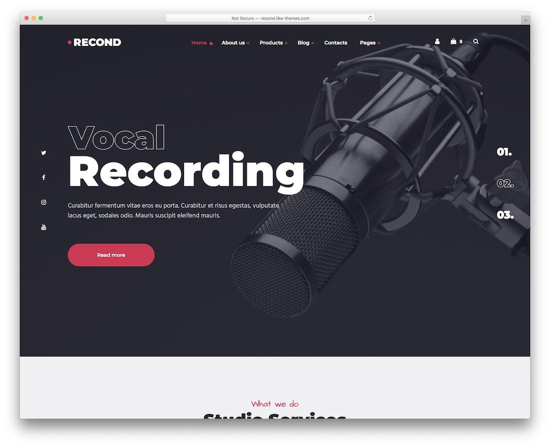 reconduire le thème wordpress pour les musiciens