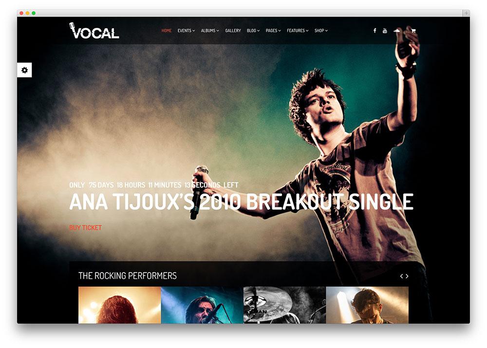 vocal stunning dark musician theme